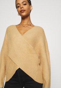 Even&Odd - CROSS FRONT BARDOT - Pullover - tan - 3
