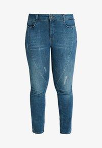 JUNAROSE - by VERO MODA - JRFIVESANLI - Jeans Skinny Fit - dark blue denim - 4