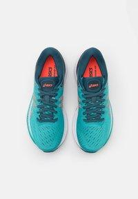 ASICS - GEL-KAYANO 27 - Stabilty running shoes - techno cyan/sunrise red - 3