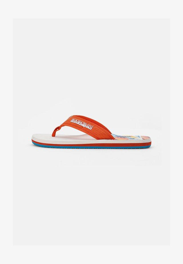 T-bar sandals - spicy orange