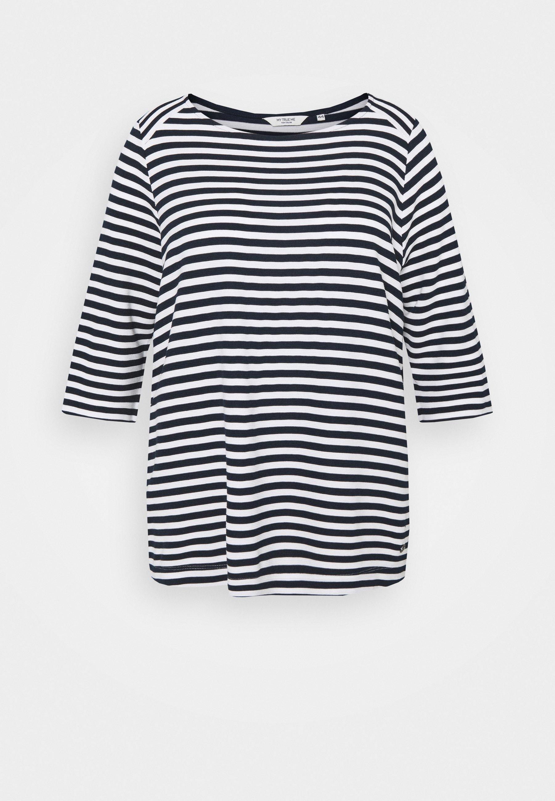 Women OTTOMAN STRIPED - Long sleeved top