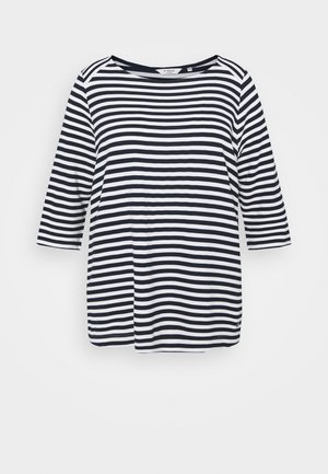 OTTOMAN STRIPED - Long sleeved top - navy white regular stripe