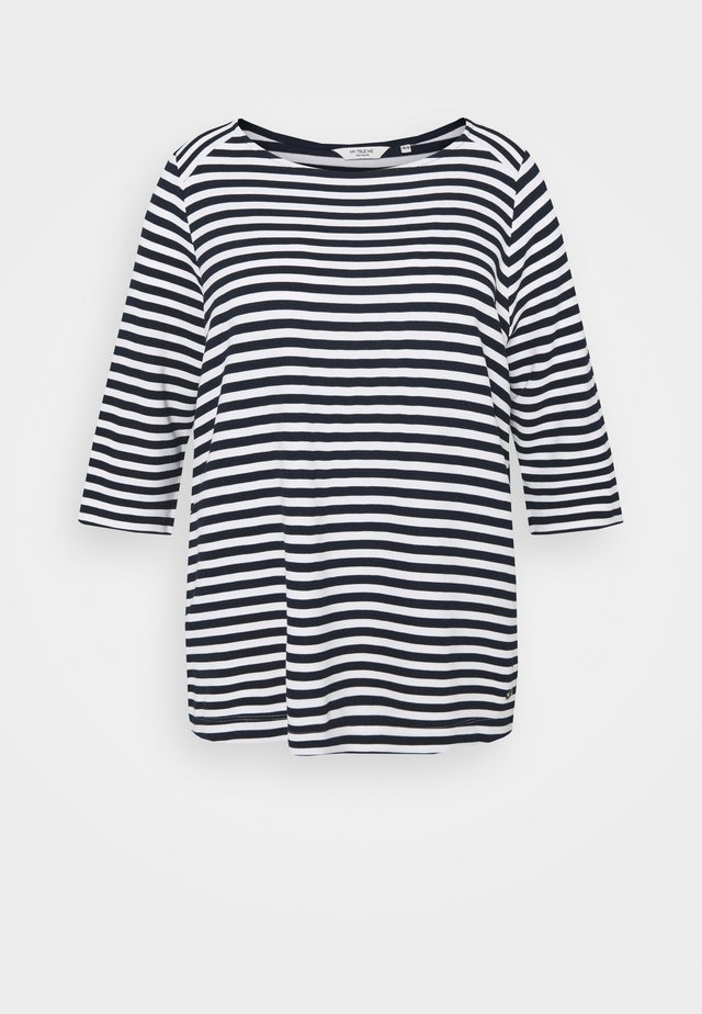OTTOMAN STRIPED - Longsleeve - navy white regular stripe