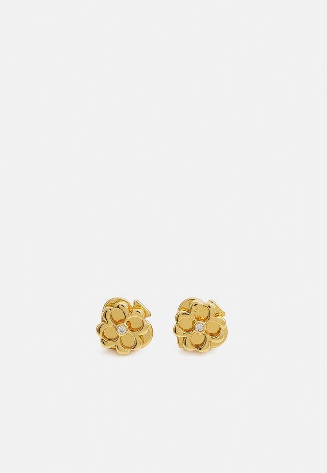 Earrings - clear/gold