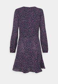 Lauren Ralph Lauren Petite - LYNZANA LONG SLEEVE CASUAL DRESS - Robe d'été - french navy multi - 1