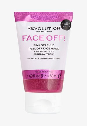 PINK GLITTER FACE OFF MASK - Masque visage - -