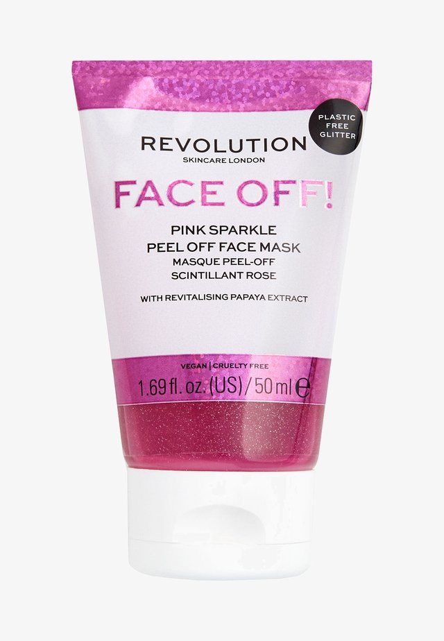 PINK GLITTER FACE OFF MASK - Face mask - -