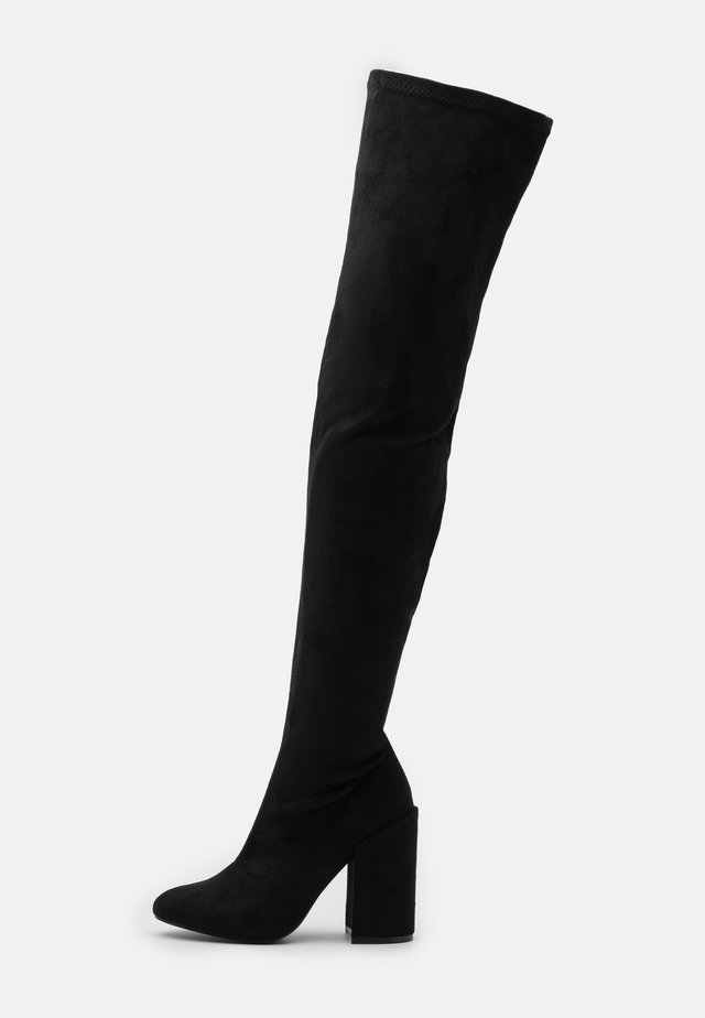 WIDE FIT EDITTA - Botas mosqueteras - black
