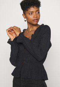 Nly by Nelly - ROMANTIC CHI BLOUSE - Bluser - black - 4