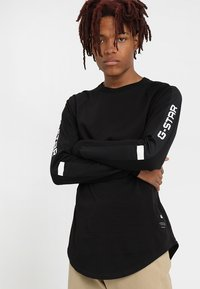 G-Star - SWANDO ART RELAXED  - Langærmede T-shirts - dark black - 0