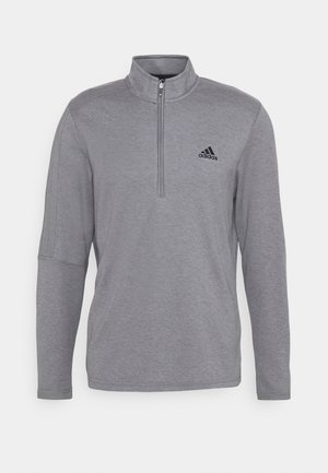 THREE STRIPE ZIP LEFT CHEST - Felpa - grey three melange