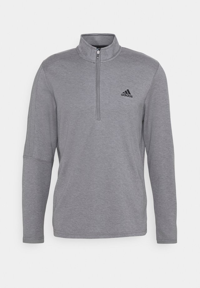THREE STRIPE ZIP LEFT CHEST - Sweater - grey three melange