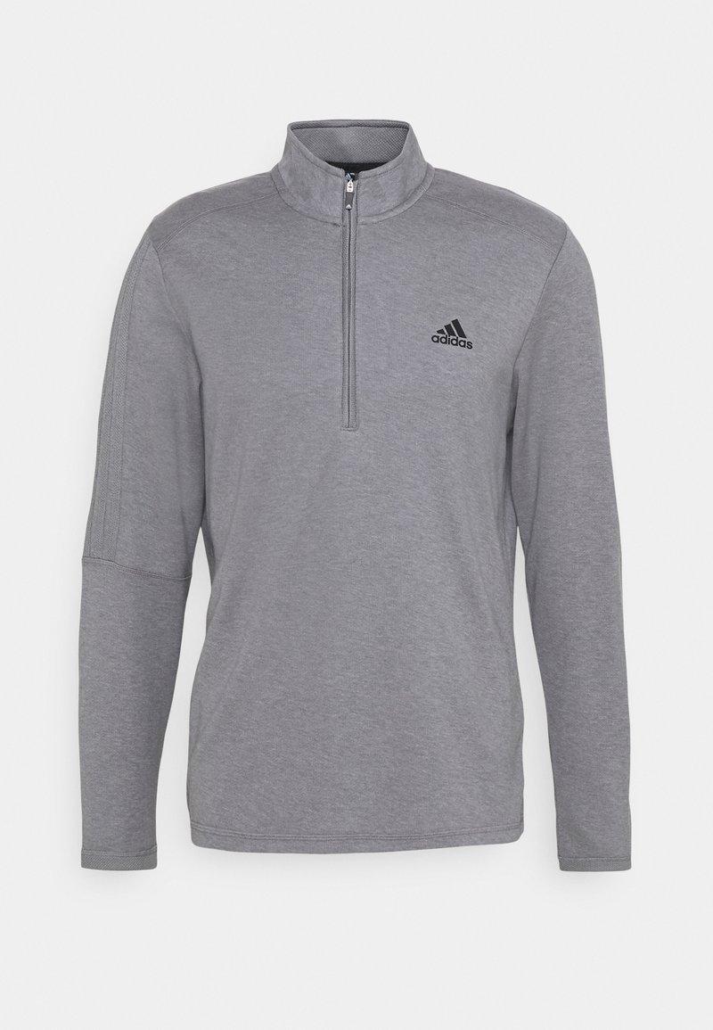 adidas Golf - THREE STRIPE ZIP LEFT CHEST - Sweatshirt - grey three melange