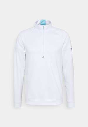 EQUIPMENT 1/4 ZIP - Sweatshirt - white/sky