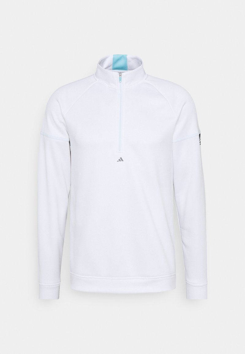 adidas Golf - EQUIPMENT 1/4 ZIP - Sweatshirt - white/sky