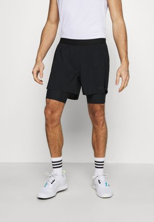 DOUBLE SHORTS - Sports shorts - black
