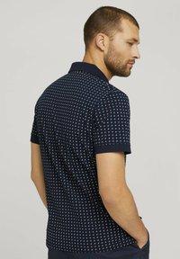 TOM TAILOR - Polo shirt - navy white minimal design - 2