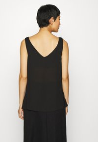 Wallis - V NECK BUTTON CAMI - Bluzka - black - 2