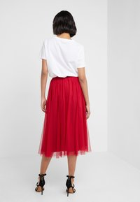 Needle & Thread - DOTTED SKIRT - A-line skirt - deep red - 2