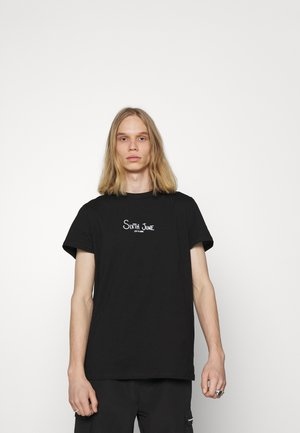 BONES TEE - Print T-shirt - black
