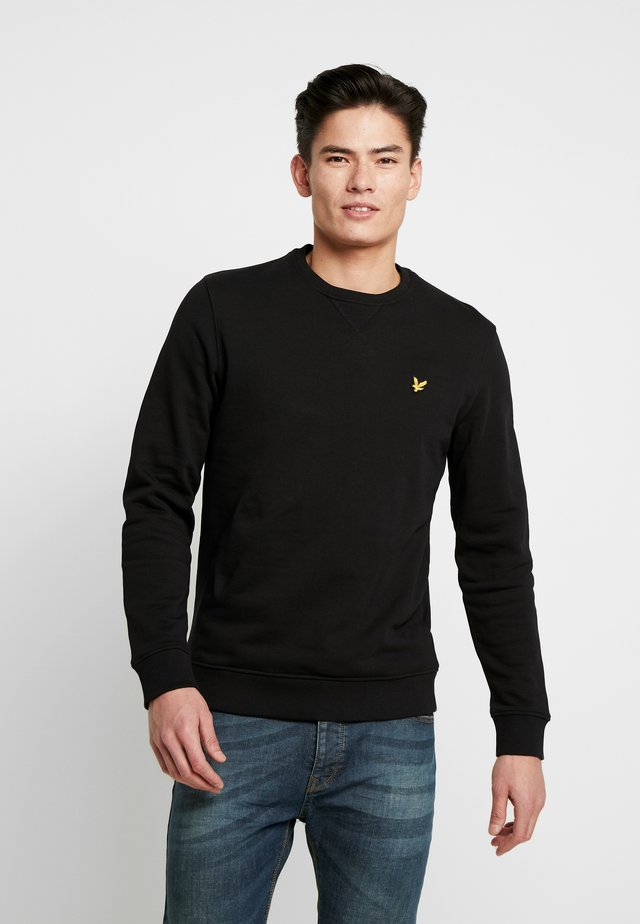 CREW NECK - Sweater - jet black