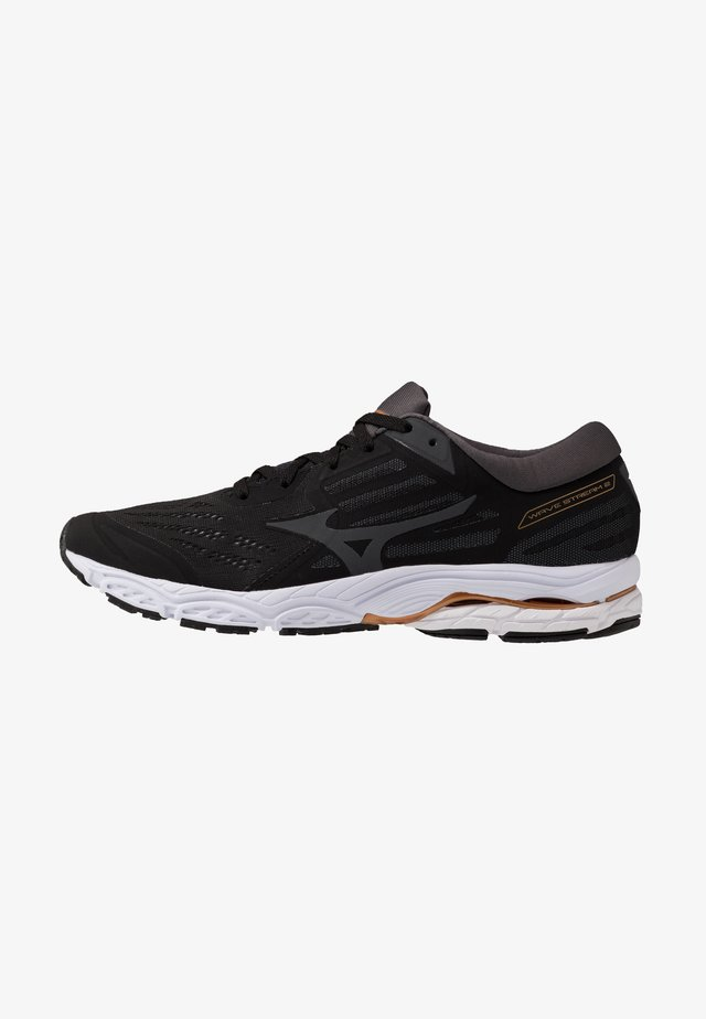 WAVE STREAM - Scarpe running neutre - black/monument/dark shadow
