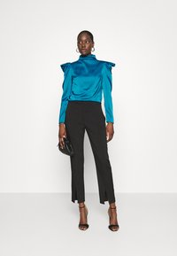 Who What Wear - HIGH NECK - Blouse - dark teal - 1