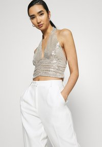 Gina Tricot - MULTIWAY GLITTER TOP - Top - beige - 4