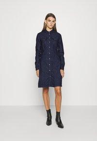 G-Star - TACOMA DRESS LONGSLEEVE - Denim dress - dark aged - 0