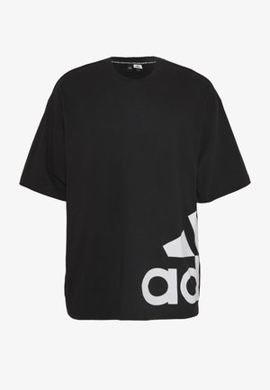 BOXBOS TEE - Camiseta estampada - black/white