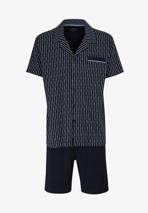 SET GEMUSTERT - Pyjama set - marine