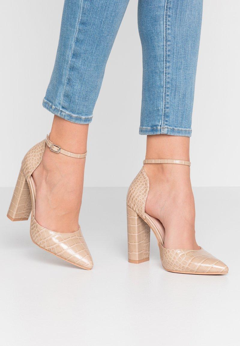 RAID Wide Fit - WIDE FIT MAHI - High heels - nude