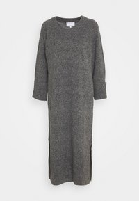 DESIGNERS REMIX - SILVIA SLIT DRESS - Jumper dress - dark grey melange - 0