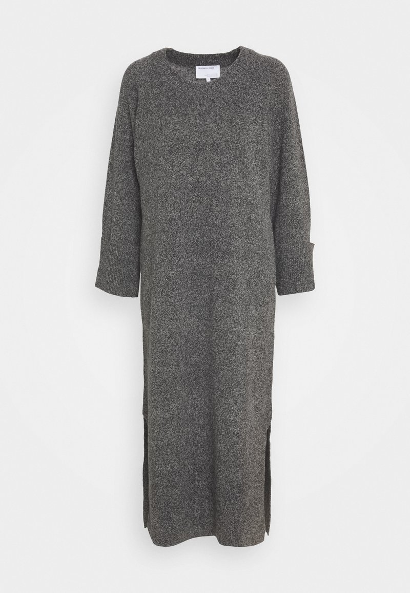 DESIGNERS REMIX - SILVIA SLIT DRESS - Jumper dress - dark grey melange