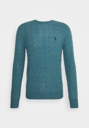 CABLE  - Neule - shetland blue heather