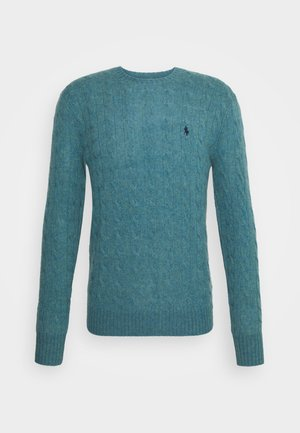 CABLE  - Strickpullover - shetland blue heather