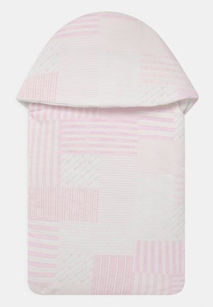OUTDOOR NEST SIGNATURE PATCHWORK - Lämpöpussi - white/baby pink