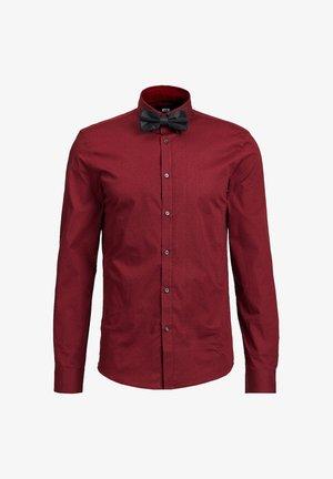 Shirt - burgundy red