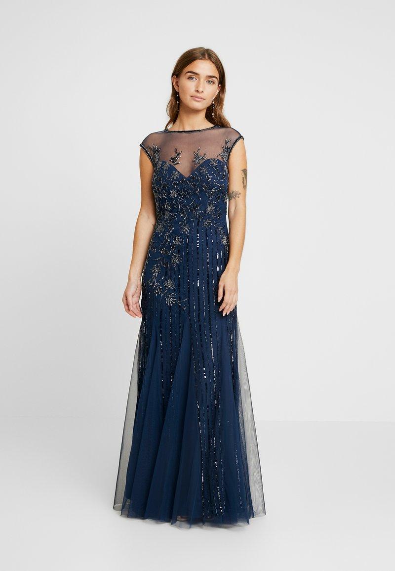 Lace & Beads Petite - MALIA MAXI - Společenské šaty - blue