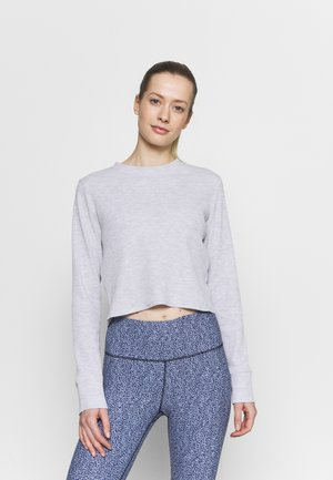 CROSS BACK LONG SLEEVE - Long sleeved top - grey marle