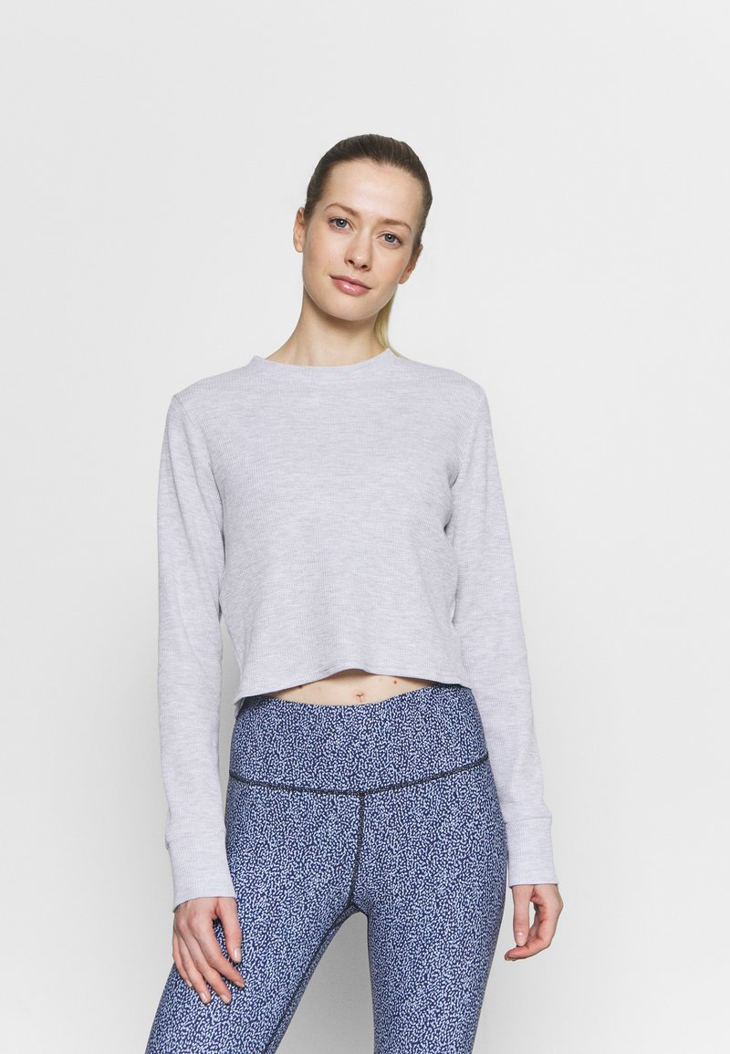 Cotton On Body - CROSS BACK LONG SLEEVE - Long sleeved top - grey marle