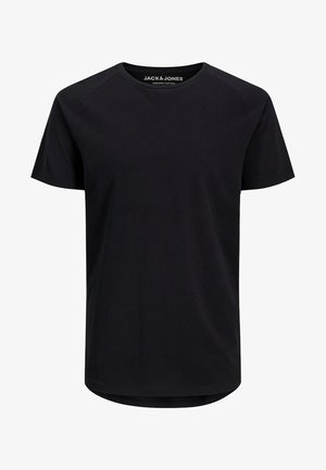 JJECURVED TEE O NECK - T-shirt - bas - black