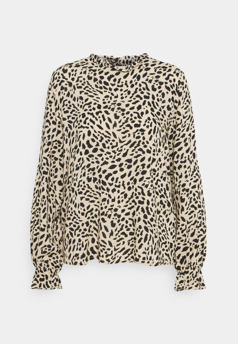 b.young - BYIDRA BLOUSE - Long sleeved top - cement