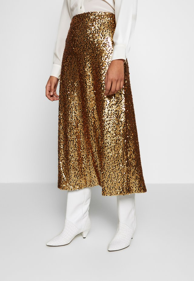 TROYE SKIRT - A-linjainen hame - troye gold