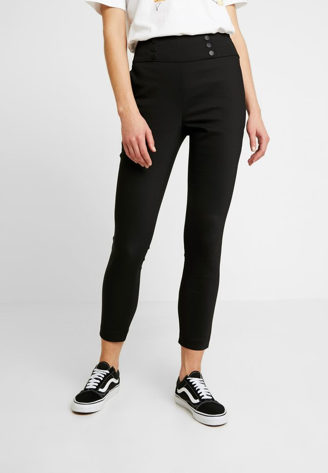 KORA HIGH WAIST PANT - Trousers - black