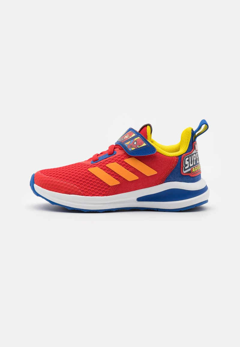 adidas Performance - FORTARUN SUPERHERO UNISEX - Neutral running shoes - vivid red/team royal blue/footwear white