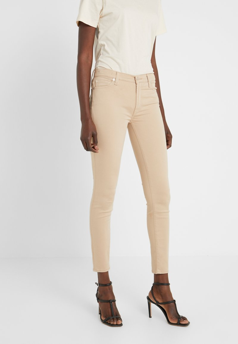 7 for all mankind - CROP - Jeans Skinny Fit - sandcastle