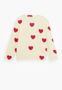 Mini Rodini - BABY HEARTS GRANDPA - Long sleeved top - offwhite - 1