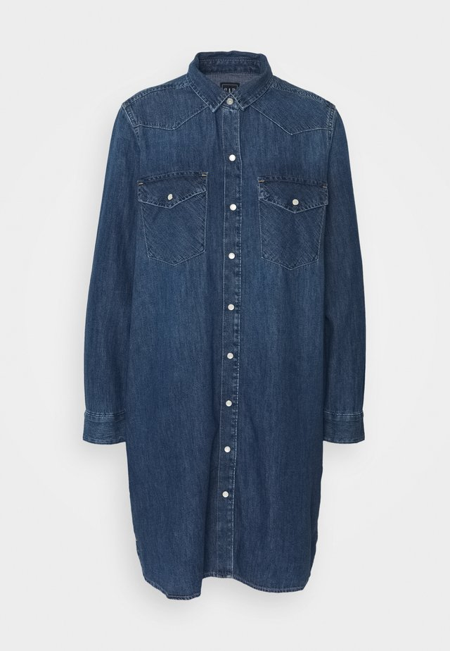 WESTERN OGDEN - Denim dress - medium indigo