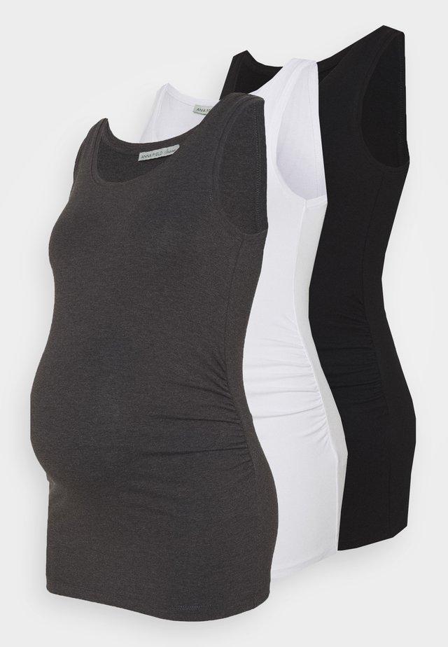 3ER PACK  - Linne - black/white/dark grey